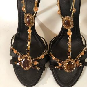 Giuseppe Zanotti Camoscio jeweled sandals
